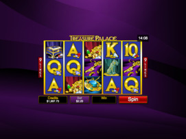 Play free Treasure Palace slot by Microgaming