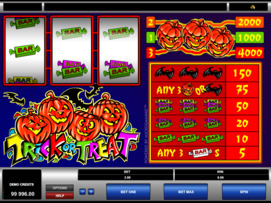 Play free Trick or Treat slot by Microgaming