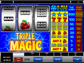 Play free Triple Magic slot by Microgaming