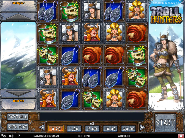 Play free Troll Hunters slot by Play'n GO