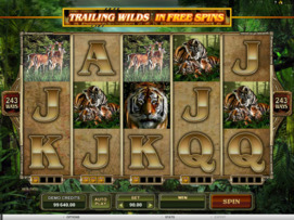 Play free Untamed Bengal Tiger slot by Microgaming