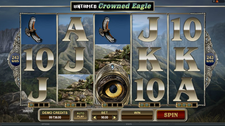 Play free Untamed Crowned Eagle slot by Microgaming