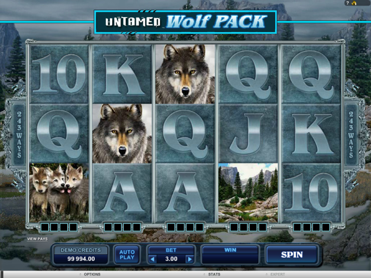 Play free Untamed Wolf Pack slot by Microgaming