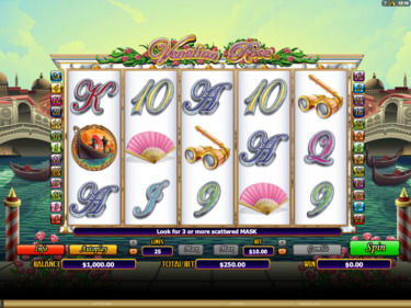 Play free Venetian Rose slot by Microgaming