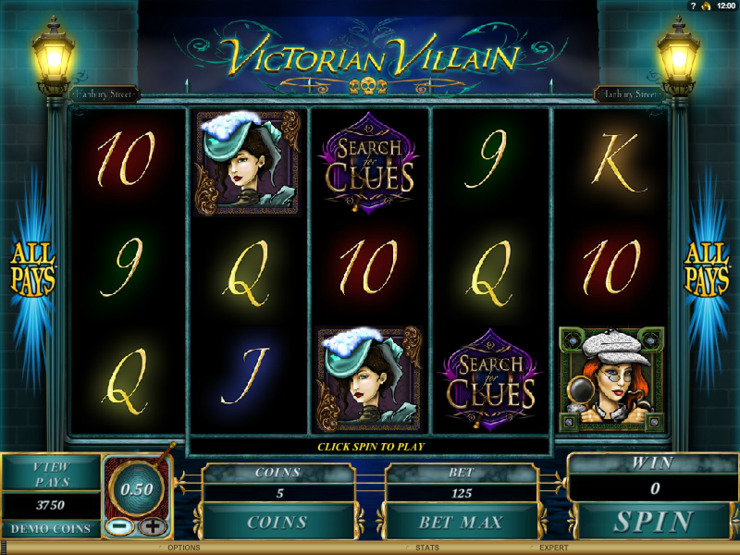 Play free Victorian Villain slot by Microgaming