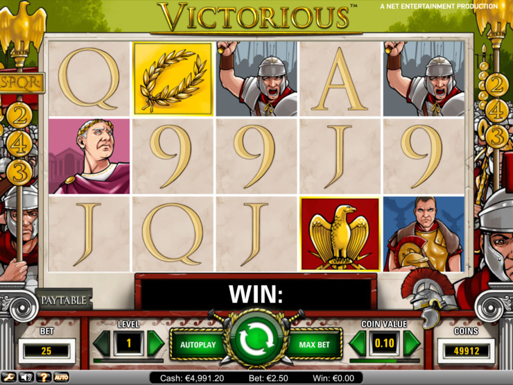 Play free Victorious slot by NetEnt