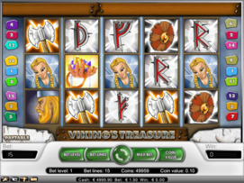 Play free Viking's Treasure slot by NetEnt