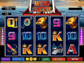 Play free Wild Catch slot by Microgaming