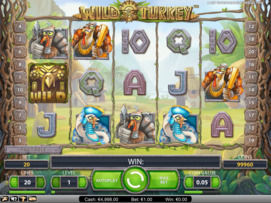 Play free Wild Turkey slot by NetEnt