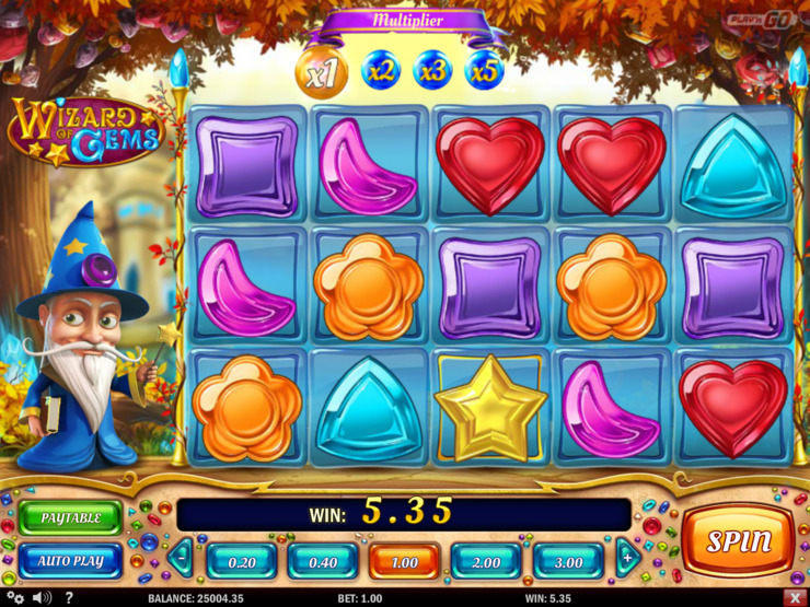 Play free Wizard of Gems slot by Play'n GO
