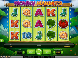 Play free Wonky Wabbits slot by NetEnt