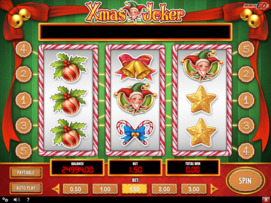 Play free Xmas Joker slot by Play'n GO