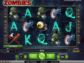 Play free Zombies slot by NetEnt